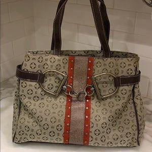 Mondani monogram shoulder purse